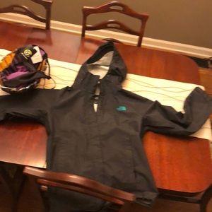 Northface rain coat with hood